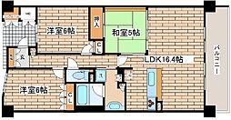 兵庫県神戸市中央区東川崎町1丁目の賃貸マンションの間取り