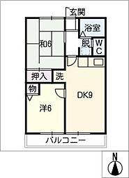 グランハイム B棟[2階]の間取り