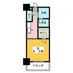 静岡七間町エンブルコート[5階]の間取り