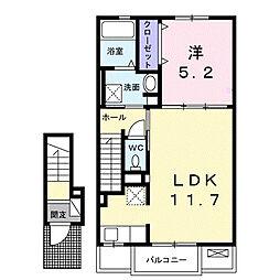 カルムII[2階]の間取り