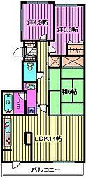 フォレストコート[5階]の間取り