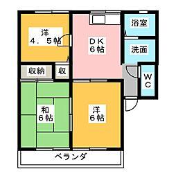 サンヒルズ21[1階]の間取り