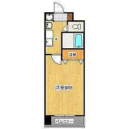 ハウスセゾン御所南[11階]の間取り