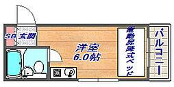篠原ヒルズコート[201号室]の間取り