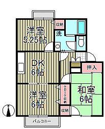 鎌倉山ガーデンヒルズ[110号室]の間取り