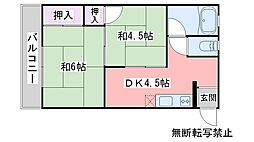 福岡県糸島市前原中央2丁目の賃貸アパートの間取り