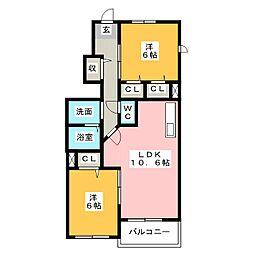 プローテ A棟 B棟[1階]の間取り