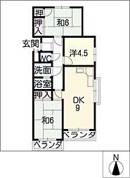 サンマンション東山元町A304[3階]の間取り