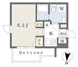 東京メトロ東西線 高田馬場駅 徒歩8分の賃貸マンション 3階1Kの間取り