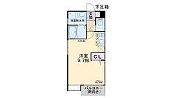 クラージュ田島[101号室]の間取り
