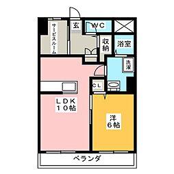愛知県名古屋市名東区平和が丘3丁目の賃貸マンションの間取り