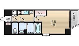 ファーストステージ江戸堀パークサイド[607号室]の間取り