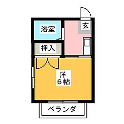 プレジール石川[2階]の間取り
