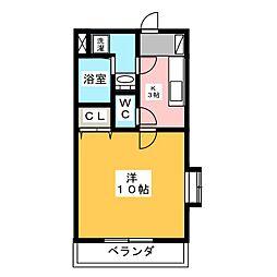 グロワール椿森[2階]の間取り