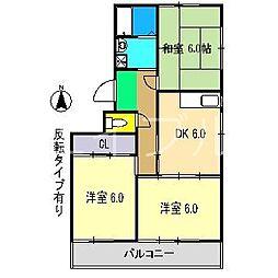 小倉マンション[3階]の間取り