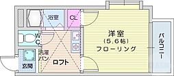 仙台市地下鉄東西線 八木山動物公園駅 徒歩20分の賃貸アパート 1階1Kの間取り