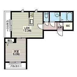 Relafort 大井[1階]の間取り