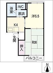 シャトーNORI[1階]の間取り