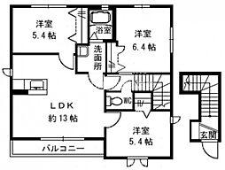 ル・パルク兼基 I棟[2階]の間取り