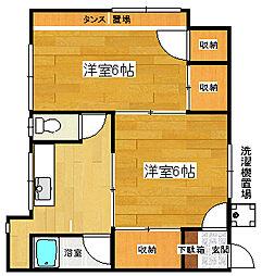 静岡県三島市東町の賃貸アパートの間取り