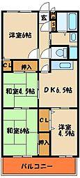 キィーロックハウス[3階]の間取り