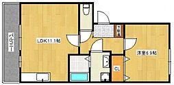 ハウスフリーデ五番館[2階]の間取り