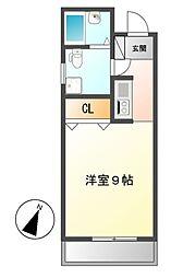 レディース徳川[4階]の間取り