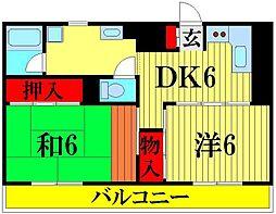 川口昭和ビル[7階]の間取り