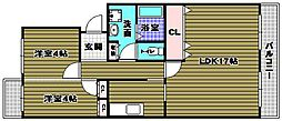 グリーンヒル小金台[1階]の間取り