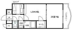 ノルデンタワー新大阪アネックス A棟 20階1LDKの間取り