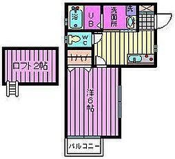 ウッドヴィレッジ宮原II[1階]の間取り