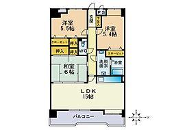JR鹿児島本線 箱崎駅 徒歩7分の賃貸マンション 8階3LDKの間取り
