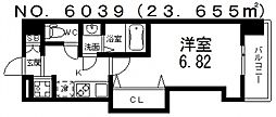 Luxe難波西III(ラグゼ難波西III) 8階1Kの間取り