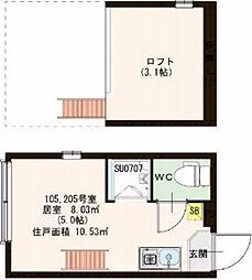 Stage池袋本町 〜ステージ池袋本町〜[1階]の間取り