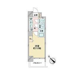 名古屋市営鶴舞線 鶴舞駅 徒歩5分の賃貸マンション 3階1Kの間取り