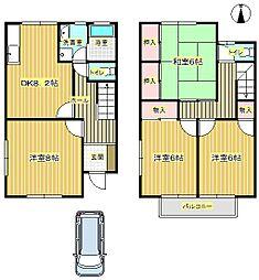 [一戸建] 大阪府豊中市西緑丘3丁目 の賃貸【/】の間取り