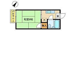 神奈川県川崎市多摩区登戸新町の賃貸アパートの間取り