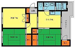 第2的野ビル[4階]の間取り