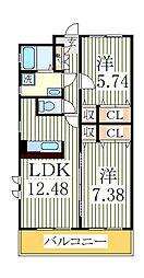 ブライトリィII[2階]の間取り
