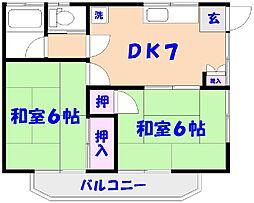 コーポ清水[2階]の間取り