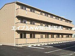 岡山県岡山市南区西市丁目なしの賃貸アパートの外観