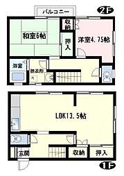 [テラスハウス] 神奈川県横須賀市野比1丁目 の賃貸【/】の間取り