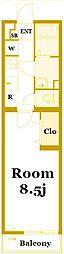 リブリ・寺前[2階]の間取り