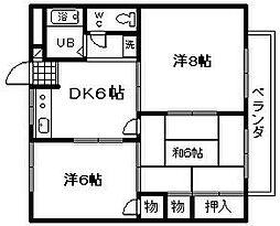 フローラル21 B棟[3階]の間取り