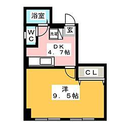 上杉第一ビル[4階]の間取り