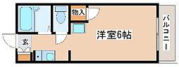神鉄粟生線 緑が丘駅 徒歩8分の賃貸アパート 1階1Kの間取り