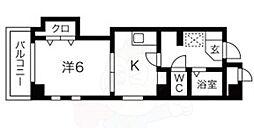 ハイツウエノ 2nd 5階1DKの間取り