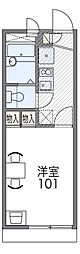 JR阪和線 東岸和田駅 徒歩9分の賃貸アパート 1階1Kの間取り
