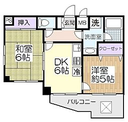 ライオンズマンション新田[3階]の間取り