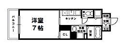 S-FORT新大阪ravir[7階]の間取り